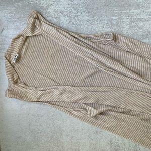 Splendid Striped Open Front Jersey Knit Vest